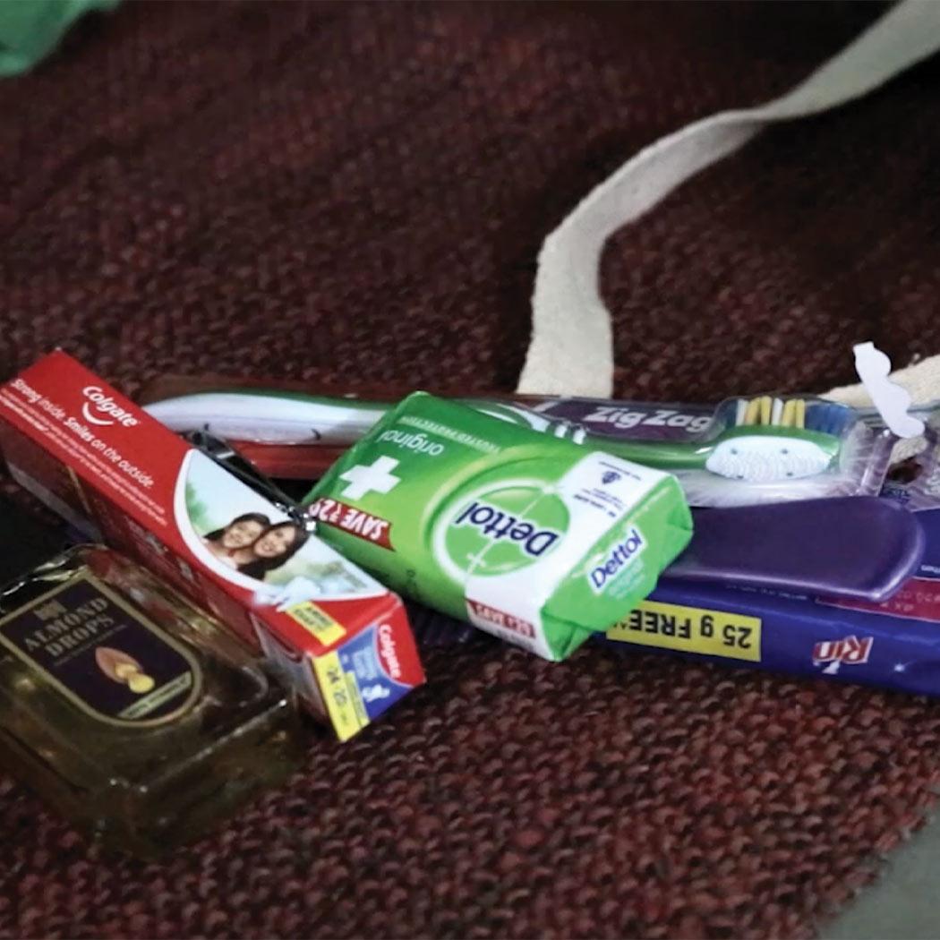 Sponsor hygiene kits